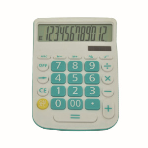 Curvaceous Business Desktop Calculator with LCD Display