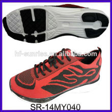 SR-14MY040 fashion new knit uppers shoes knit fabric sports shoes knit men running shoes