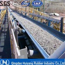 Correia transportadora de borracha de cabo de aço resistente ao frio