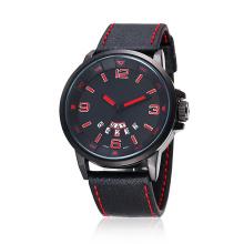Wasserresistente Mann-Armbanduhr mit Silikon-Bügel