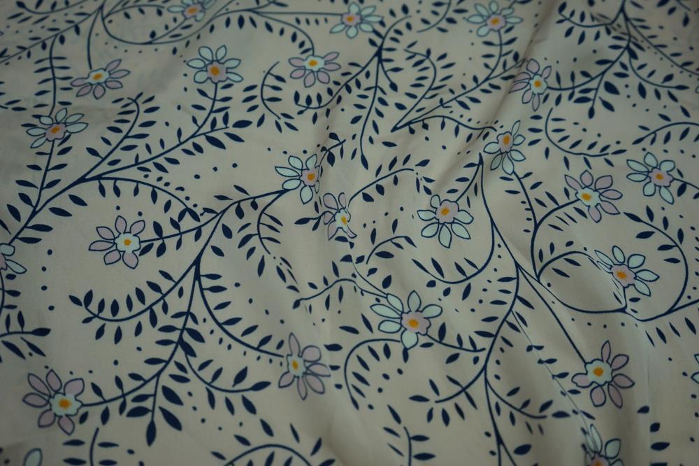 Sea Island Hammer Satin Print Fabric