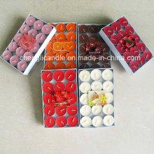 Período de armazenamento longo perfumado e colorido Tealight velas