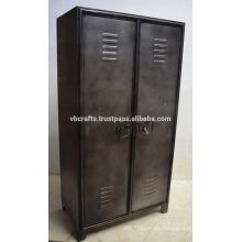 Industrial Vintage Locker Schrank Natürliche Metall Finish