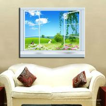Lona de lona de Windows Arte de la pared de la lona de la lona de las mercancías / arte de la pared para el hotel