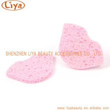 Fiber face sponge Wood Pump Washing Sponge Facial Cellulose Cleaning Sponge