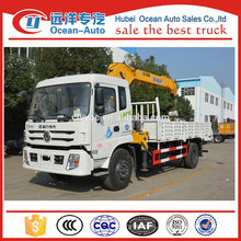 Dongfeng 8 Ton XCMG Telescopic Boom truck mounted crane for sale