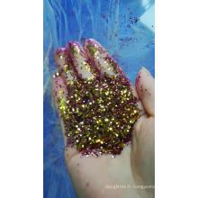 Changement de couleur de paillettes / paillettes de caméléon / changement de couleur de paillettes à partir d'angles différents pour les cosmétiques, le nail art, les jouets, les étudiants, etc.