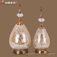 vaso de metal vaso de vidrio con base de metal y la tapa de artesanía de vidrio de metal