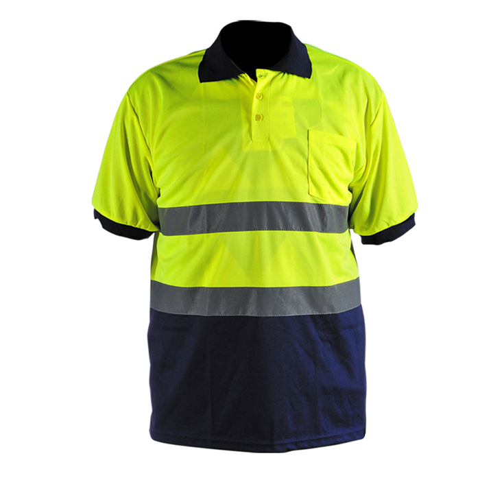 Black Safety Workwear Reflective Garment