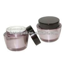 Oval acrílico cosméticos pote