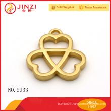 Fashion Design custom three cross heart shape metal hang tags