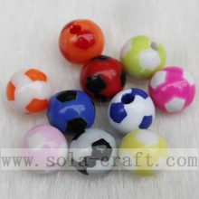 Factory Supply Factory price for Acrylic Bicone Beads Lovely Football Double Color Mixed Loose Beads supply to Cape Verde Factories