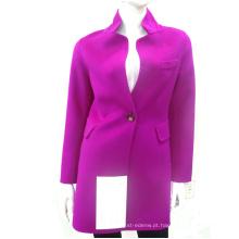 15QF1213 mulheres camada dupla 100% casaco de lã