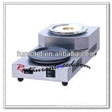 K085 1 chaudière et 1 plus chaudes machines à café électriques en acier inoxydable de partie supérieure du comptoir