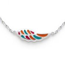 Flügel Form Halskette 925 Silber Kette Multi Farbe Schmuck für Kinder