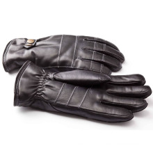 Men′s Fashion Sheepskin Leather Motorcycle Driving Gloves (YKY5188-1)