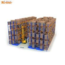 sistema de estantería de almacenamiento en almacén rack de doble profundidad