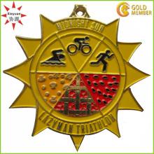 Fabrik-kundenspezifische Qualitäts-Emaille-laufende Medaille