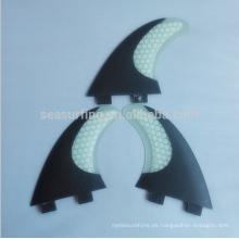 2015 nuevo estilo de fibra de vidrio panal tabla de surf aleta / aletas de pescado traje