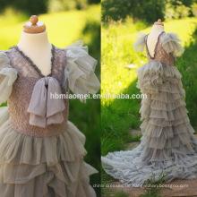 Beste verkaufende Baby-Mädchen kleidet Hochzeits-Partei-Mädchen-Kleid-weiche Blumen-Mädchen-Tulle-Kleid