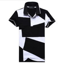 White and Black Color Combination Sport Plain Polo T Shirts