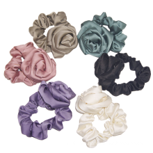 Bandeau fascia per capelli Ribbon Rose Retro Scrunchies New Hair Accessories Tie Bow Elastic Band Designer Fabric for Women Solid for Girl Wholesale