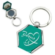 Porte-clés en métal personnalisé 2014 avec miroir (M-100)