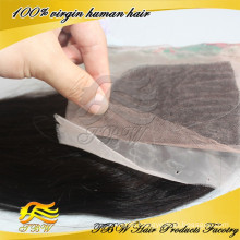 100% Virgin human hair cambodian silk base closure