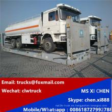 Exportado a Asia Sur-Oriental Shacman 6 X 4 camión de tanque de combustible