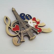 El logotipo de encargo del recuerdo graba en relieve el imán del refrigerador de París del logotipo (F5025)
