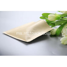 Kraft Paper 3 Side Seal Bag dengan injap