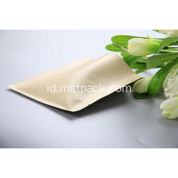 Kraft Paper 3 Side Seal Bag dengan klep
