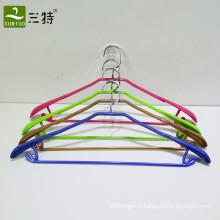 cintre enduit de PVC en métal pour la vente au détail de supermarché