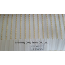 Nouveau tissu de rideau transparent Organza VoIP à rayures de projet populaire 008274