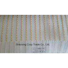 Novo Projeto popular Stripe Organza Voile Sheer Cortina Tecido 008274