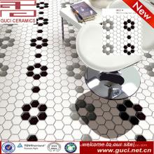 Fornecimento de porcelana Hexagonal cozinha mosaicos cerâmicos