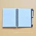 Cuaderno de encargo del diario de la cubierta dura hecha a mano de la fábrica / planificador del cuaderno del espiral con el cojín de nota / el cuaderno / el diario de las notas pegajosas