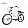 Weiße elektrische Strandkreuzerfahrräder des Hinteren nabenmotors 1000w für Verkauf