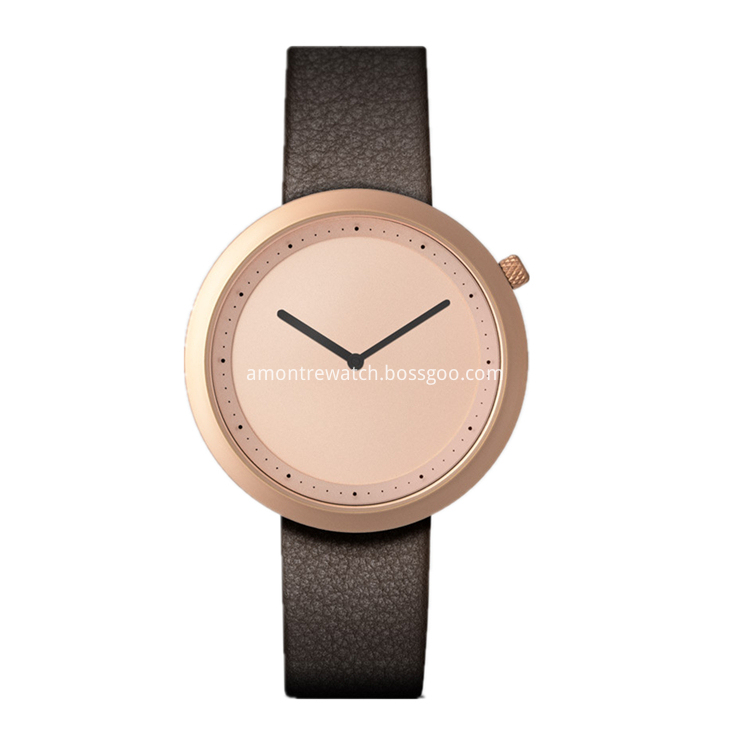 rose gold dial watch