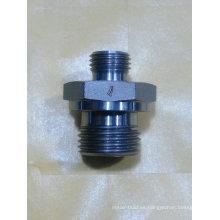 Piezas de maquinaria de construcción Accesorios de rosca recta de acero inoxidable de alta presión