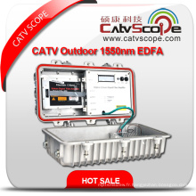 CATV 1550nm Amplificateur à double amplificateur optique d'extérieur EDFA EDFA