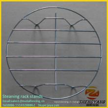Table de qualité alimentaire de haute qualité porte-bagages en acier fil wok anneau de ménage en acier inoxydable de cuisson ware staining supports de rack