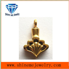 New Design Heart Gold Imitation Jewellery with Diamond