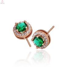 Boucles d'oreilles argent 925 or rose de conception simple pour les filles