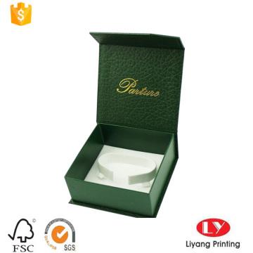 Rigid cardboard box with c-clip for bangle