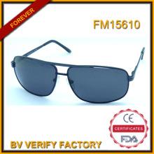 FM15610 Alta calidad Men′s Metal gafas de sol con logotipo personalizado