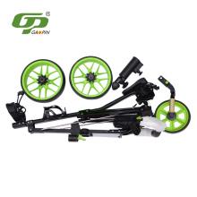 Foldable golf three wheels cart driving range golf trolleys