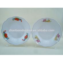 Africa hot Sale Hotel Б / у режущая кромка дешевая керамическая глубокая тарелка / фарфоровая тарелка
