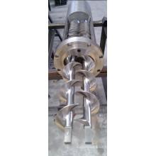 Barril de tornillo paralelo doble de acero inoxidable Barril de tornillo doble Componentes de maquinaria de plástico