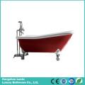 Hot Red Classic Acrylic Bathtub with Aluminum Alloy Feet (LT-11TR)